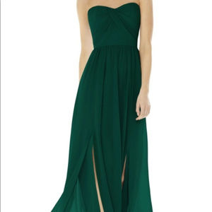 Social Bridesmaids Strapless Georgette Gown Size 4